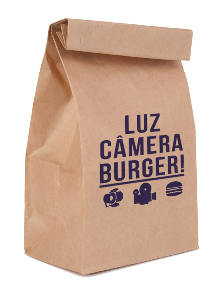 saco de papel luz camera burger